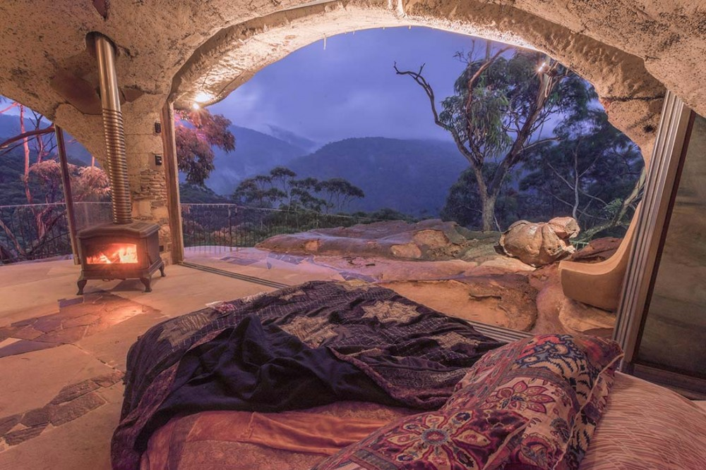 cave-fire-bed